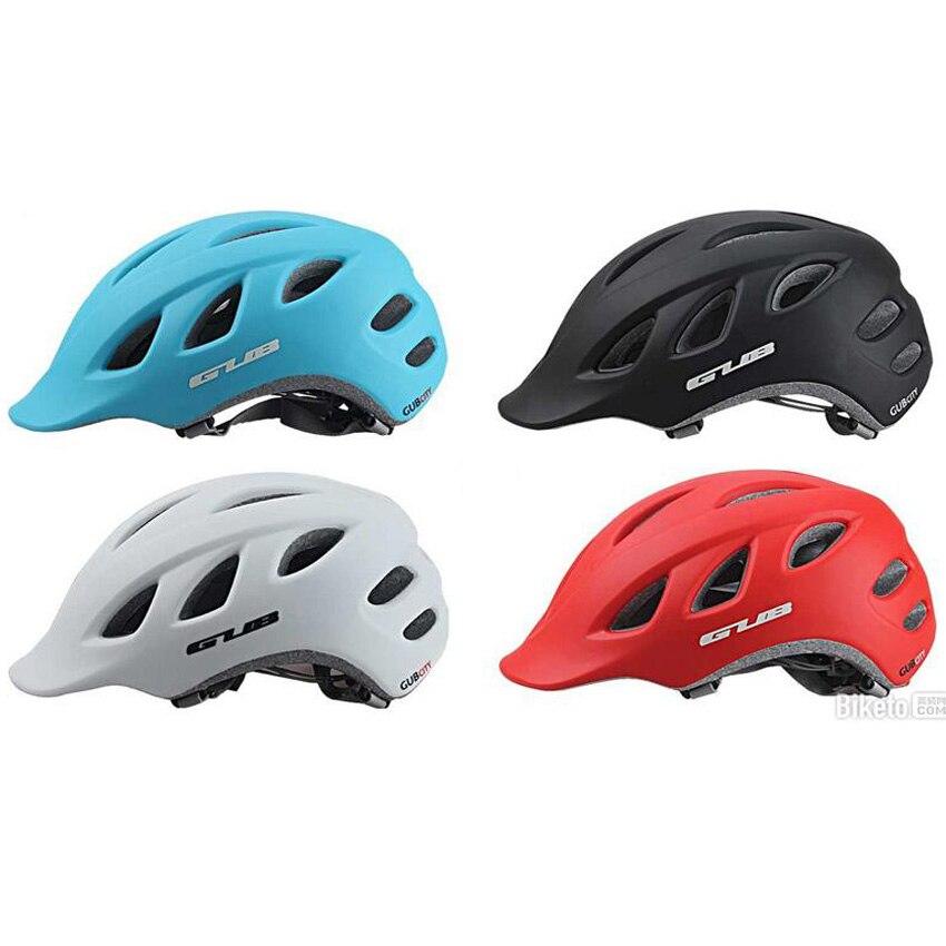 GUB City Bicycle Helmet MTB Road Bike Helmet Women Men Integrally molded Casco Ciclismo Safe Cap 18 Air Vents 57 60cm|Bicycle Helmet| |  - title=