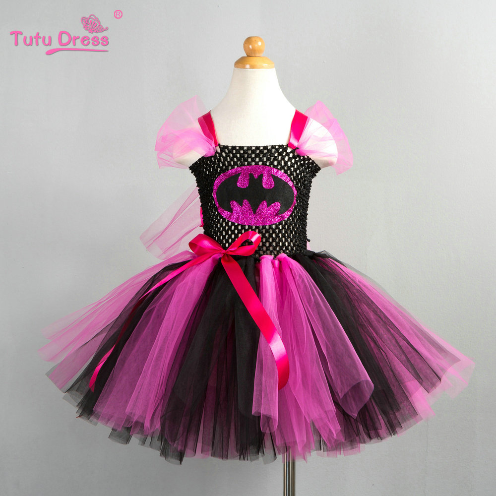 Children Girl Tutu Dress Super Hero Girl Halloween Costume Kids Summer Tutu Dress Party Photography Girl Clothing цены онлайн