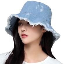 Chapéu de Sol feminino Chapéu de Praia Verão Maré de Moda Primavera Chapéu  de Cowboy Mulheres 23cce474da1