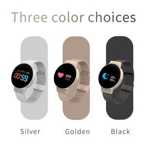 Image 4 - Dropshipping tanie BluetoothSmart zegarek dla androida/IOS iphone wodoodporny ekran dotykowy sport zdrowie inteligentny zegarek damski