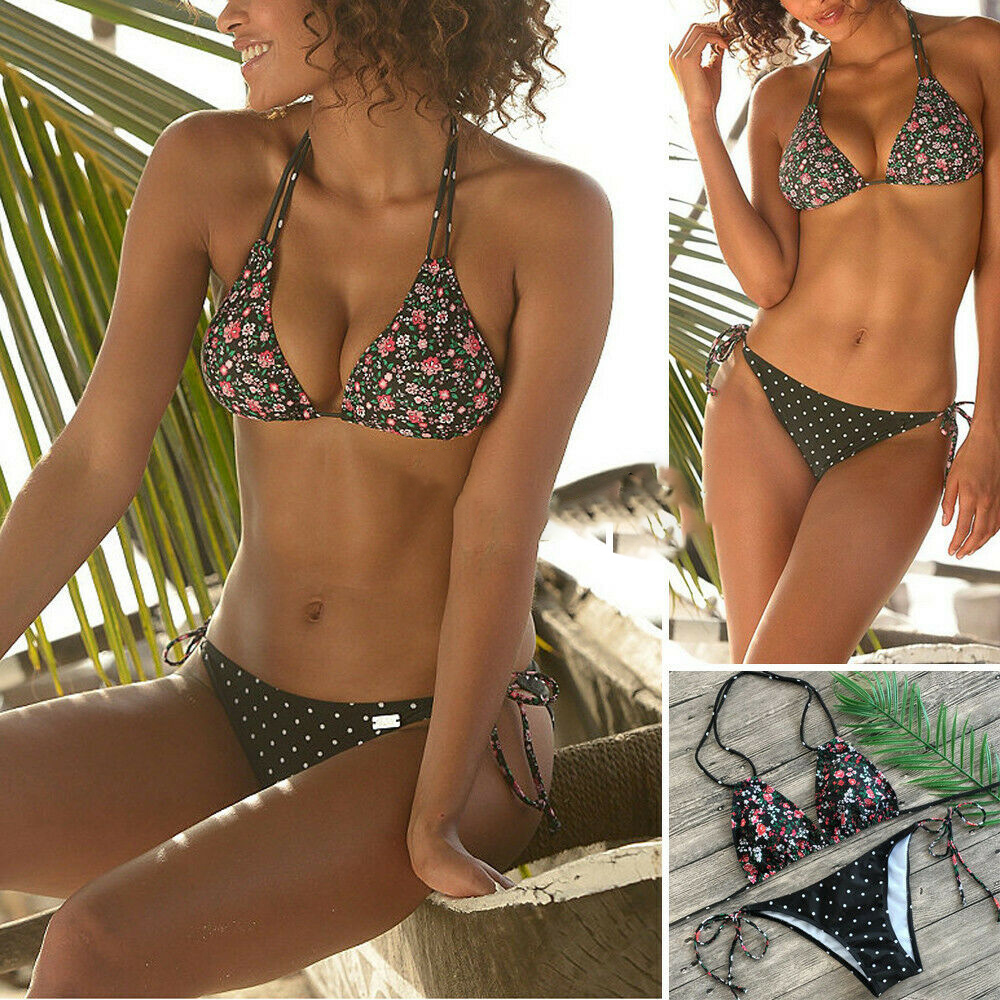 Fashion Mode <font><b>Frauen</b></font> Sexy Floral Push Up Badeanzug Badeanzug <font><b>Bademode</b></font> Bikini Sets image