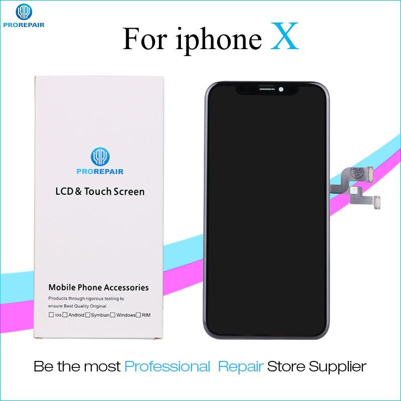 Prorepair 1 unids ori-tomar ori-nueva pantalla para iPhone x pantalla LCD pantalla táctil reemplazo de la Asamblea del digitizador