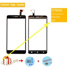 For Alcatel One Touch Pixi 4 OT-8050D OT8050 8050 Touch Screen Touch Panel Sensor Digitizer Front Outer Glass Touchscreen NO LCD цены онлайн
