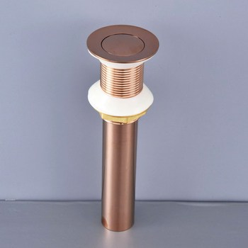 Luxury Rose Gold Brass Small Round Cap Pop Up Bathroom Sink Basin Waste / Drain Without Overflow Bathroom Accessory msd078 недорого