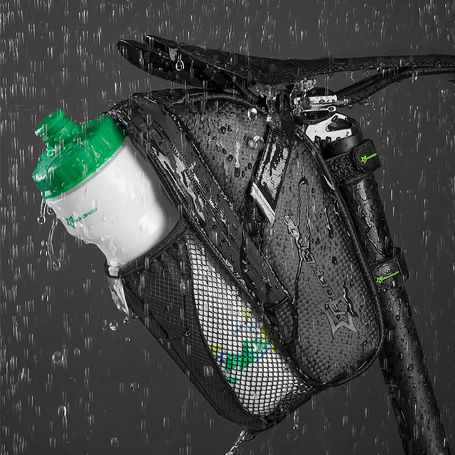 ROCKBROS MTB Bicicleta Da Bicicleta Saddle Bag Com Bolso Garrafa De Água À Prova D' Água Sacos de Assento Traseiro de Bicicleta Traseira Da Bicicleta Saco de Cauda Acessórios Da Bicicleta 4