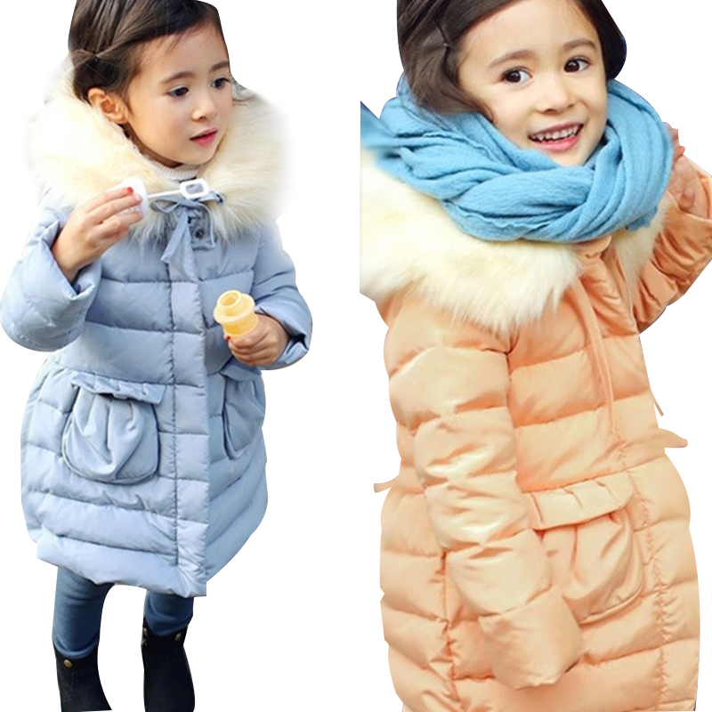 Warm Thick Girls Clothing Hooded Solid Children's Jacket For Girls 3-10 Years Girls Parka Baby Girls Winter Coat Kids Outerwear plamtee baby boys girls winter jacket 2017 brand candy color hooded warm coat zipper solid windproof outerwear for kids clothing
