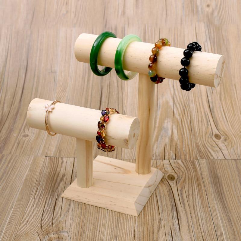 Aliexpress Com Buy Wood Bracelets T Bar Bangle Display