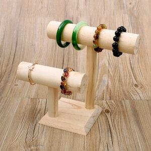 Wood Bracelets T-Bar Bangle Di