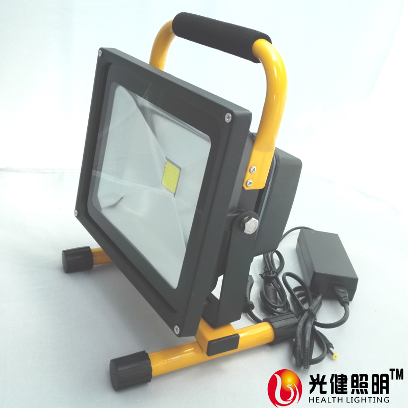 50W dimming rechargeable camping light Epistar LED IP65 cordless portable outdoor flood light 50W Rechargeable flood light