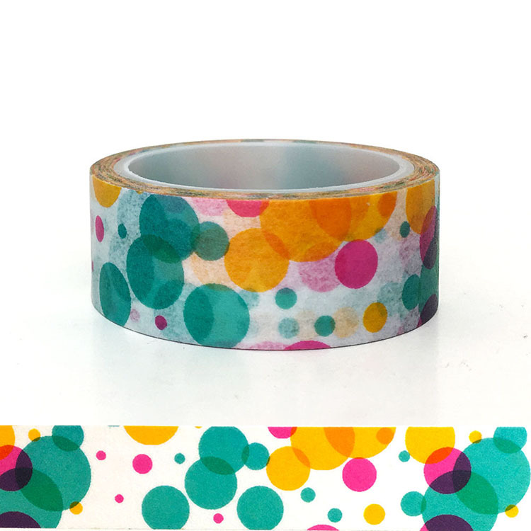 20pcs set Dream Color Ring Washi Tape DIY Decorative Washi Sticker Cute in Office Adhesive Tape from Office School Supplies