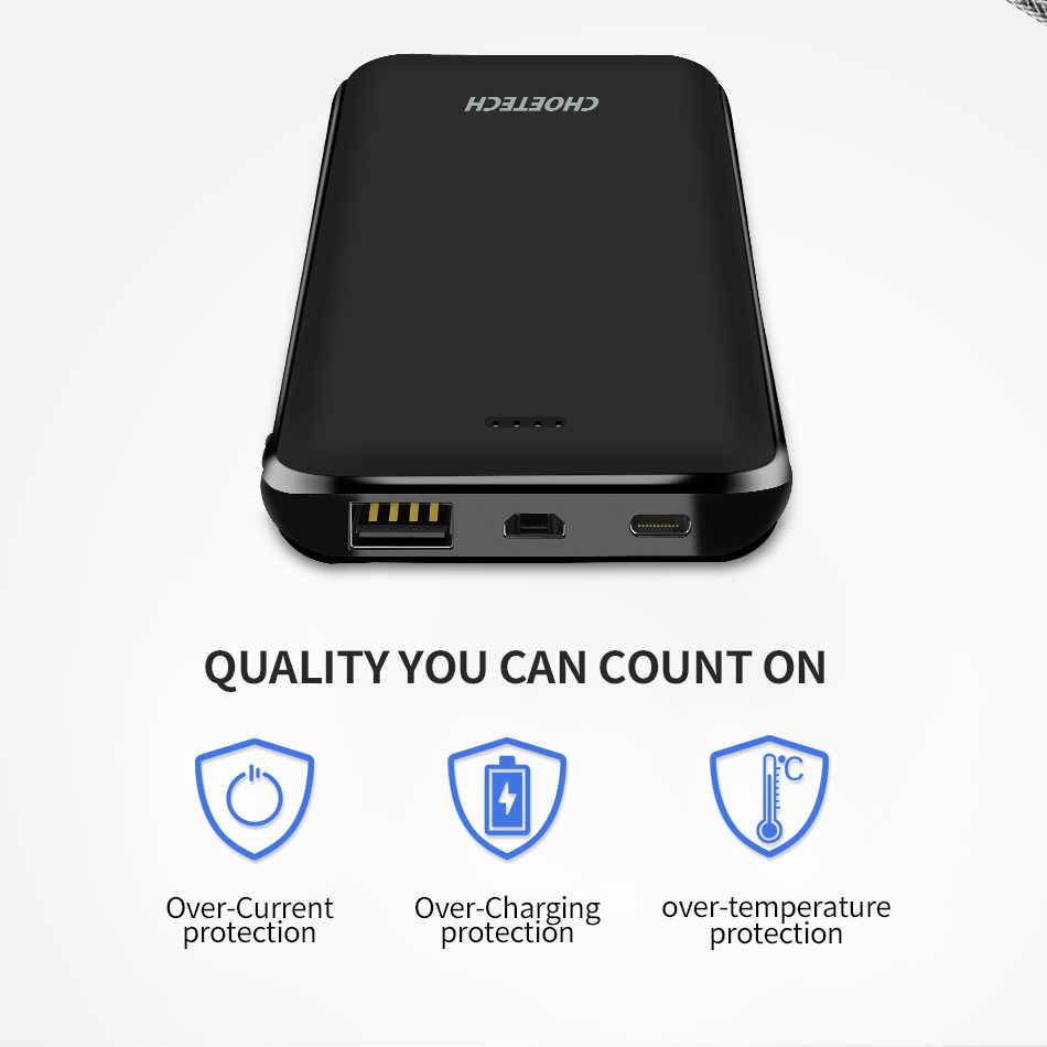 Choetech Power Bank 10000 MAh 5V 2.4A Ultra Slim Li-Polymer Baterai Portabel 18650 Mobile Ponsel Cepat powerbank untuk Xiaomi