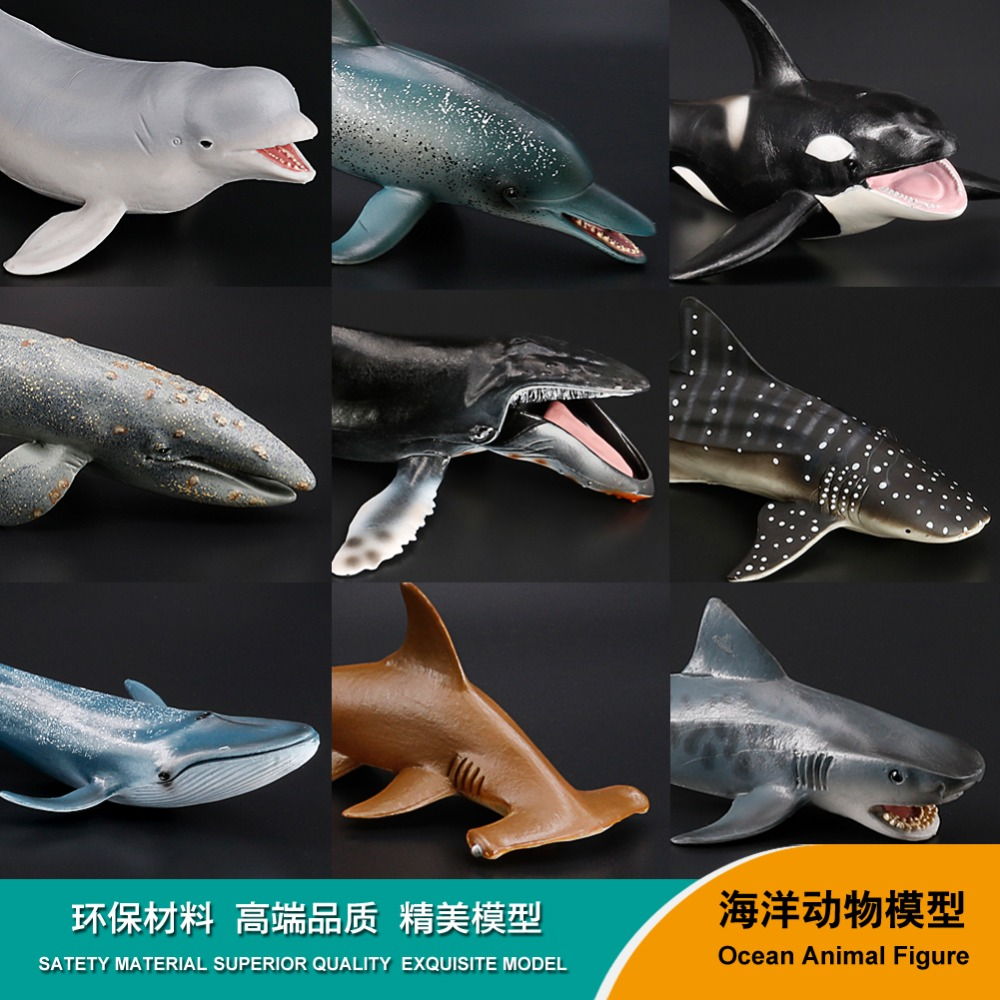 Wild Marine Animal Model Whale Toys Preschool Cognitive Static Model Of Solid Environmental Protection Decoration Be Friendly In Use Back To Search Resultstoys & Hobbies