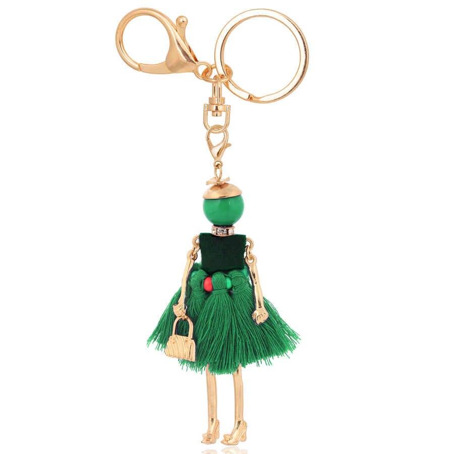 Chenlege atacado cadeias de moda chave saco chaveiros encantos senhoras chaveiros para as mulheres pingentes jóias cadeia chave do carro anel presentes