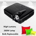 260W DLP 3D Light Projectors UHP 7500 lumens 1080p HD 1920*1080 Video hd Projector Mini 4K Portable HDMI VGA Free Android Stick