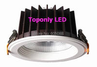 7 Round 25w High Bright Retrofit Epistar COB LED Downlight IVAR Led Ceiling Down Lamps 2014