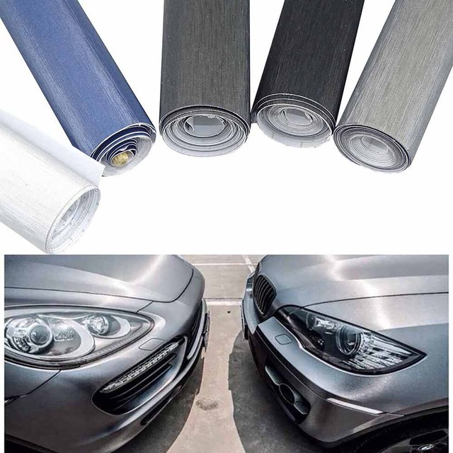 37ac0c1f0a Car Styling 10x100cm Brush Vinyl Film Car Wrap Matt Brushed Auto Motorcycle  Truck Computer Protective Decorative Stickers Decal