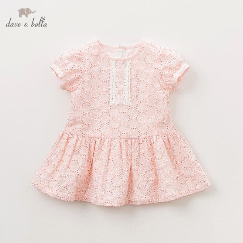 DBA9408 dave bella été bébé fille princesse mignon points robe enfants mode fête robe enfants infantile lolita vêtements