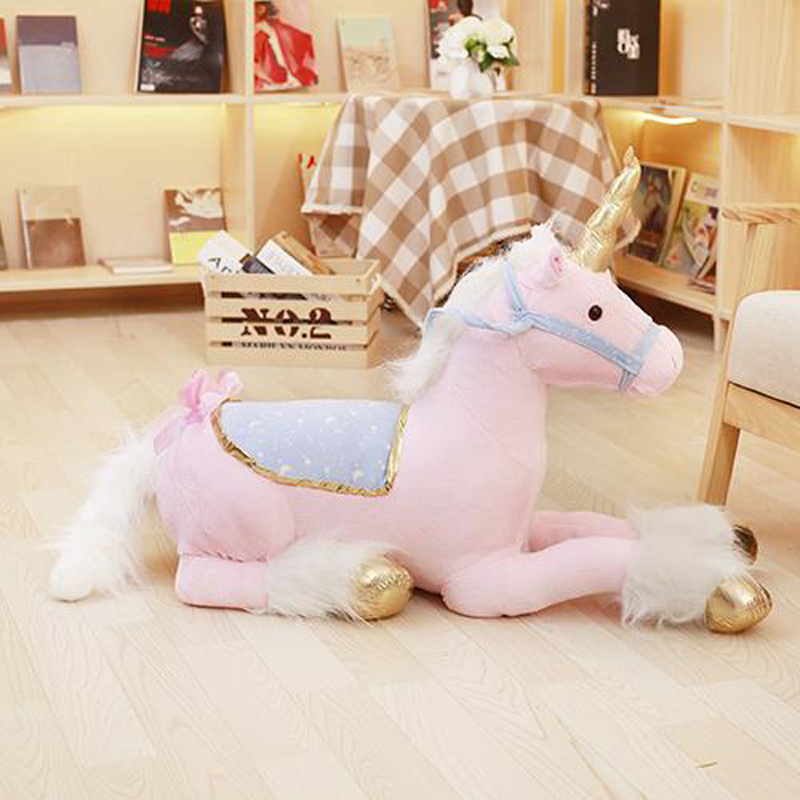 Nooer Unicorn Stuffed Plush Toy Large 1M Stuffed Unicorn Animal Horse Doll Birthday Gift For Kids Children 6pcs plants vs zombies plush toys 30cm plush game toy for children birthday gift