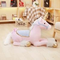 Nooer Unicorn Stuffed Plush Toy Large 1M Stuffed Unicorn Animal Horse Doll Birthday Gift For Kids Children