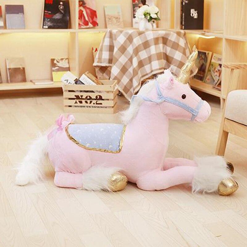 Nooer licorne peluche peluche jouet grand 1 M peluche licorne Animal cheval poupée cadeau d'anniversaire pour enfants enfants
