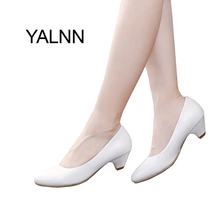 YALNN High Heels Pump Black Fashion 3cm Women Shoes Dress Pointed Toe Office Lady Pumps for Girls