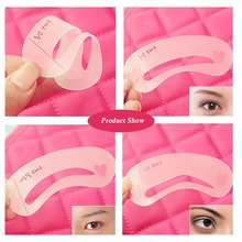 No Poison Beauty Product Cosmetic 3 Style Plastic Eyebrow Stencil Kit Environment Friendly Makeup Tools