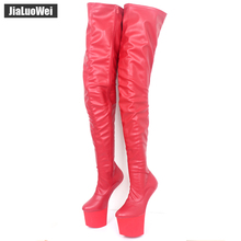Fashion Women special boots Sexy Female Over-the-Knee Boots High-heeled Dance shoes New Design High platform boots PU leather недорого