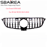 SBAIREA W166 Car GTR Grill Car Front Grill for Benz GLE300 GLE320 GLE350 GLE COUPE W292 Racing Grille Without logo 2015 2018