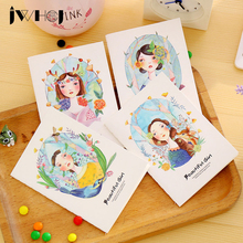 1 pcs beautiful girl Portable Mini notebook diary cash book notepad kawaii stationery school supplies gift for kids papelaria