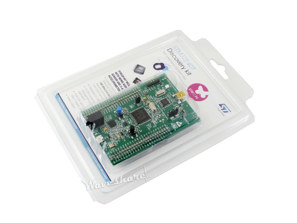 ST Official MB997D STM32F407G-DISC1 Updated STM32F4DISCOVERY Cortex-M4 1MB Flash 192KB RAM STM32F407VGT6 STM32F4 Discovery Kit