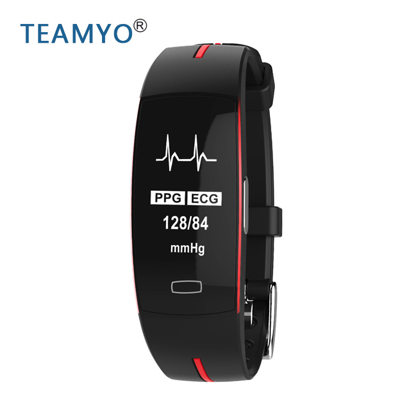 Teamyo <font><b>P3</b></font> <font><b>Smart</b></font> bracelet blood pressure Monitor ECG+PPG cicret bracelet Fitness Tracker <font><b>band</b></font> <font><b>Smart</b></font> wristband Heart rate monitor image