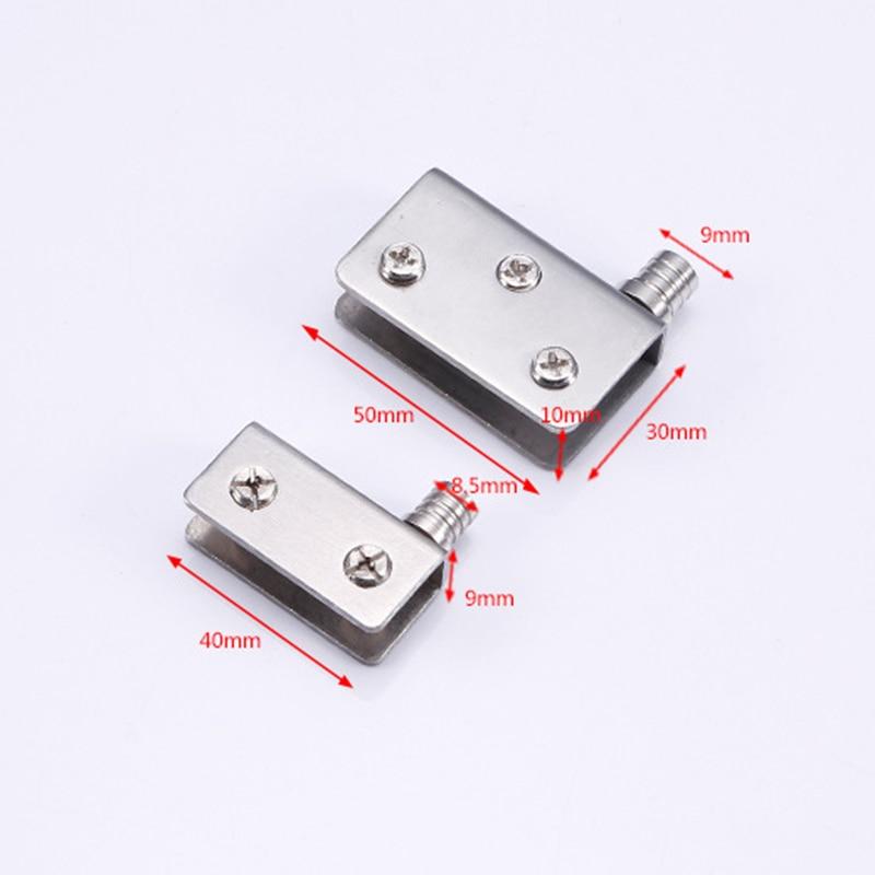 1/2/4 Uds. De acero inoxidable para puertas de vidrio de 5-8mm con bisagras de pivote LB88