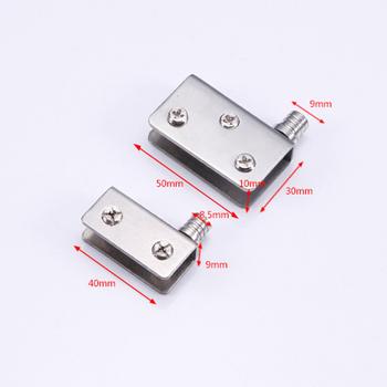 1 2 4 sztuk ze stali nierdzewnej do 5-8mm szklane drzwi szklane Pivot zaciski zawiasy w drzwiach LB88 tanie i dobre opinie Furnishard STAINLESS STEEL