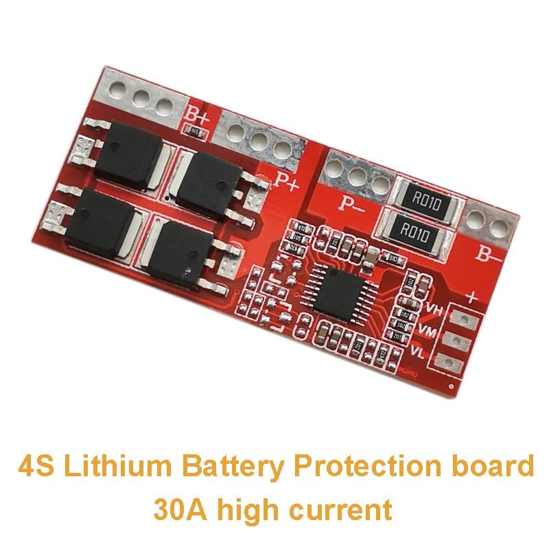 4S 30A Current Li-ion Lithium Battery 14.4V 14.8V 16.8V 18650 BMS Charger Protection Board