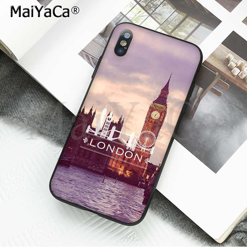 MaiYaCa London big ben Bus DIY Luxury High-end Protector Case for iPhone X XS MAX  6 6s 7 7plus 8 8Plus 5 5S SE XR