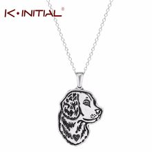 Kinitial 1Pcs Collana Del Pendente Del Cane Golden Retriever Greyhound Cane Da Pastore Tedesco Memorial Regalo di Gioielli Collane Del Collare Del Choker(China)