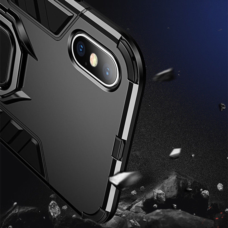 4 In 1 Aluminum Bumper Case For iPhone With Magnetic Finger Phone Standing Case 5