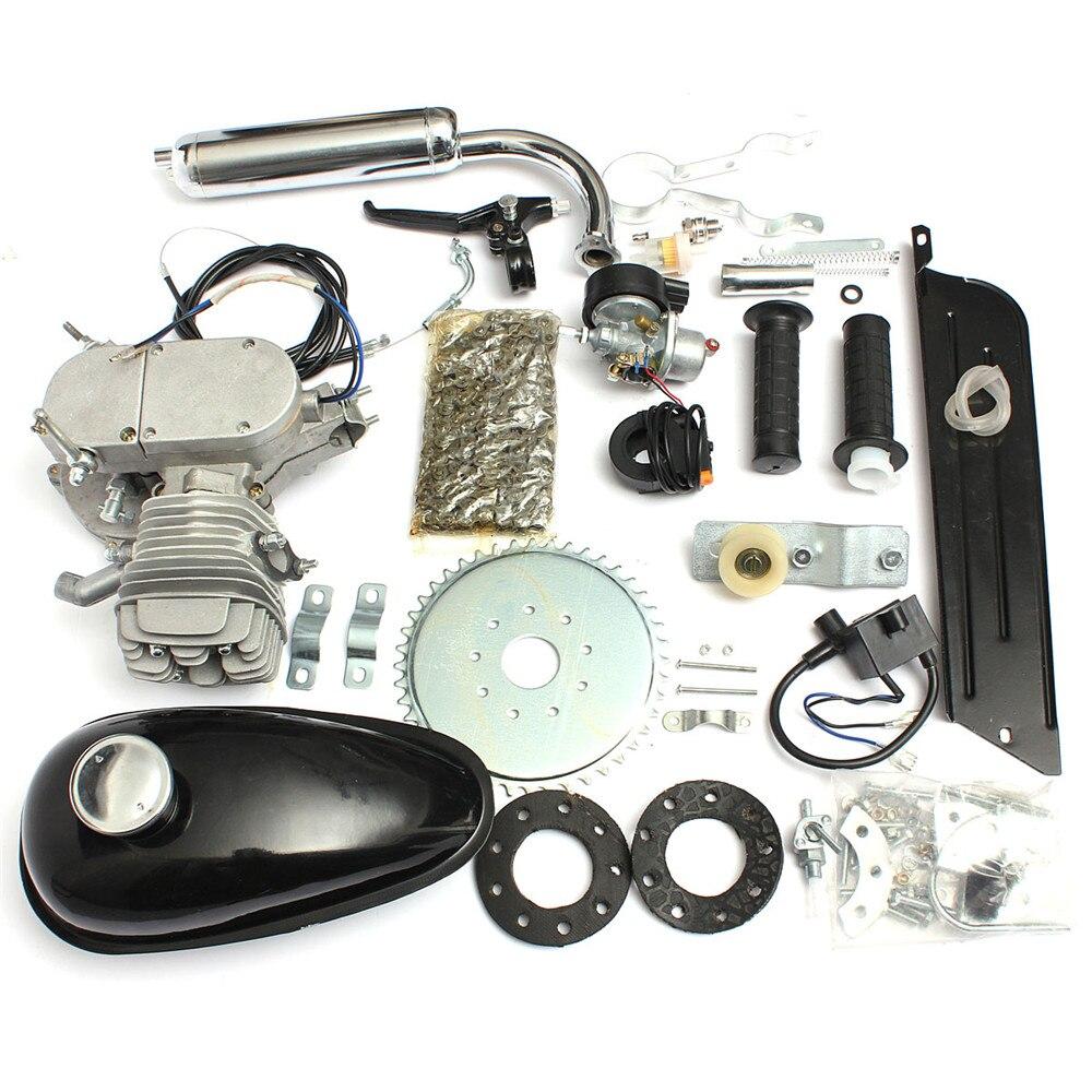 50cc 2-Stroke Gas Motorized Bicycle Petrol Black Engine Motor Air-cooling Bike Kit