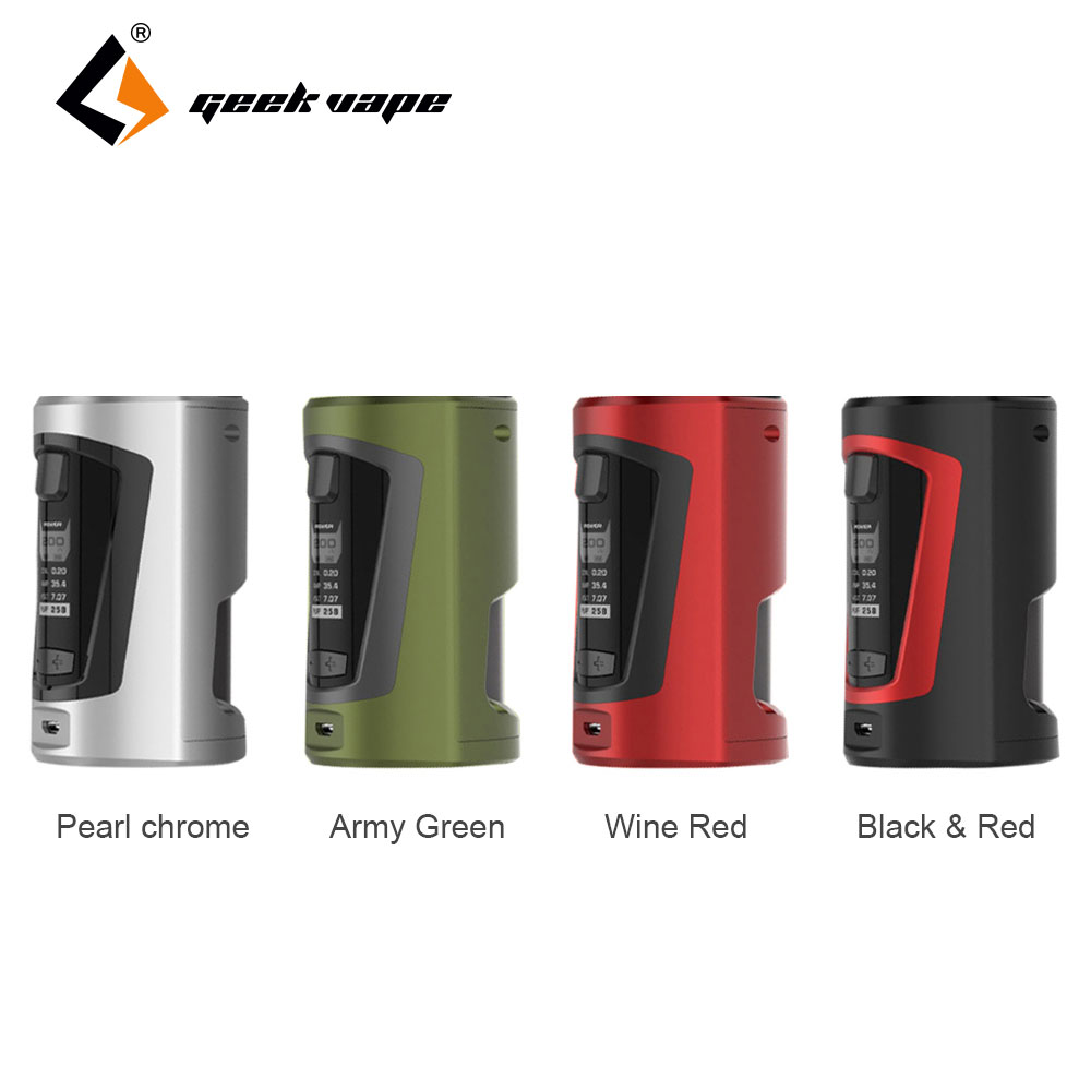 Original GeekVape GBOX Squonker 200W TC Mod 8ml Bottle Capacity with AS Chipset for Stable Performance Max 200W Output Vape Mod geekvape gbox squonker 200w tc mod w as chipset