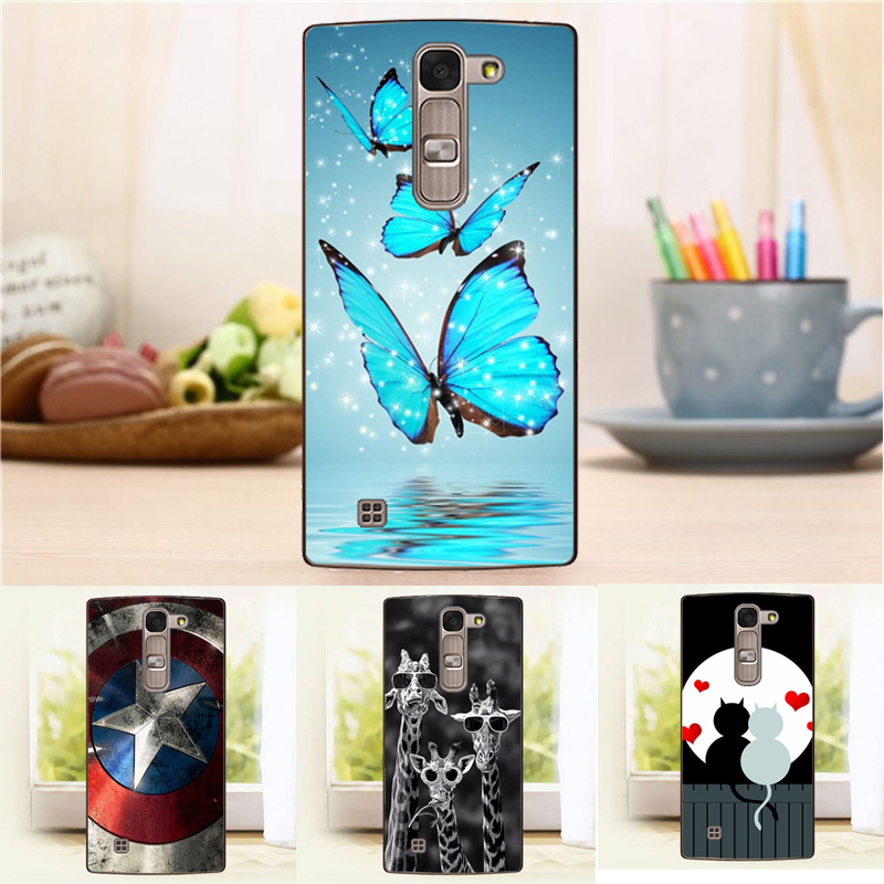 Newest Hard Back Case for LG Magna G4c H522Y H502f H500F H525N Flower Crown Tower Pattern Cover For LG G4 Mini Case