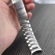 Смотреть полоса 20 мм 22 мм Новый Мужские высококачественной Нержавеющей Стали Развертывания Ремешки Для Наручных Часов Ремешок Браслеты Для БРЕНДА
