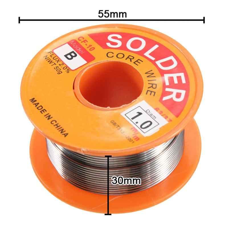 50 جرام 63/37 سبائك القصدير الرصاص القصدير غرامة سلك الأساسية 0.6-1 مللي متر 2% تدفق بكرة لحام خط لحام سلك