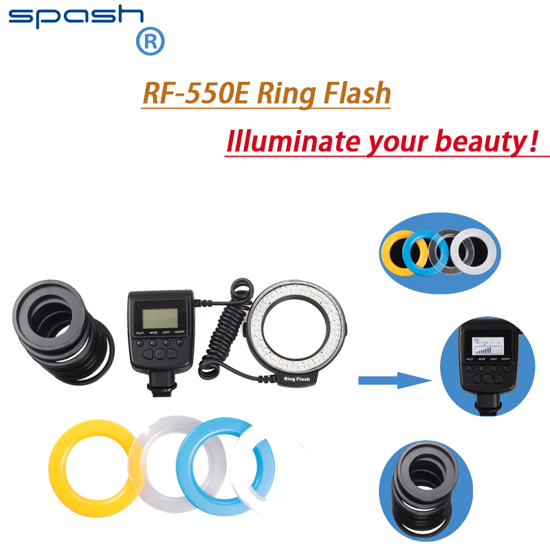 Spash New RF 550E Macro 48 pcs LED Ring Flash Light For Sony A900 A850 A560