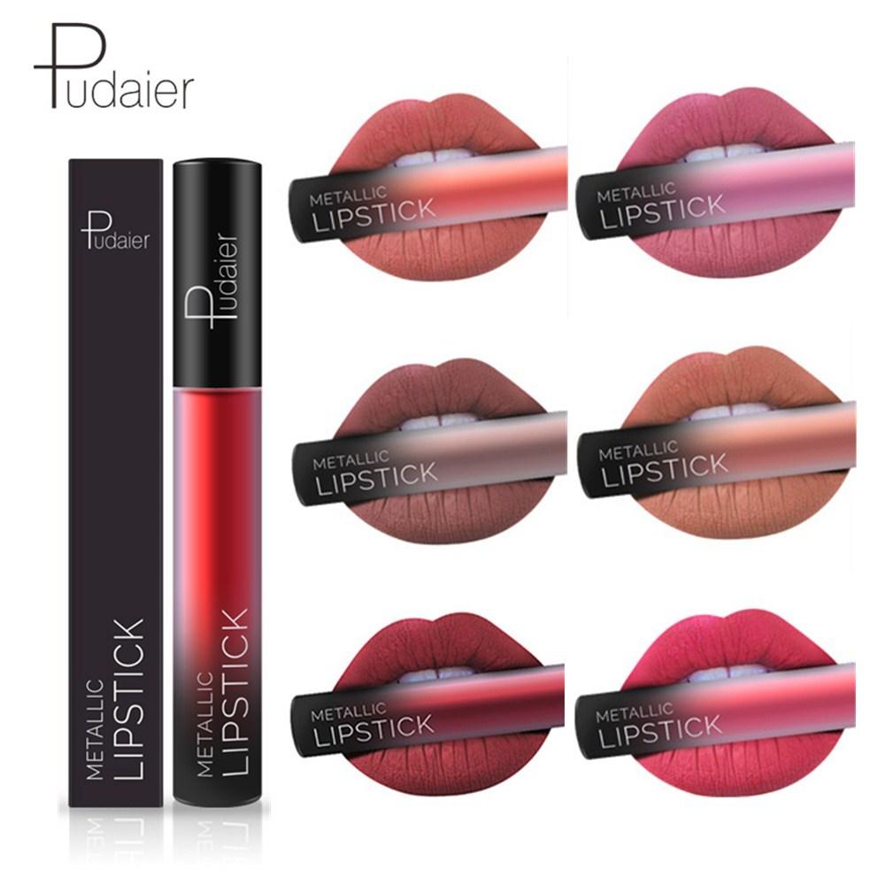 Pudaier Waterproof Matte Liquid Lipstick Long Lasting Matte Lip Gloss Women Sexy Lips Makeup Cosmetics Non-cup Stick Lipstick 1