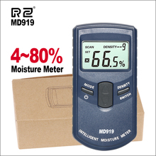 RZ Moisture Meters Digital Inductive Paper Moisture Tester With Backlight MD919 Woodworking Electrical Moisture Meter handheld moisture meter 6 60