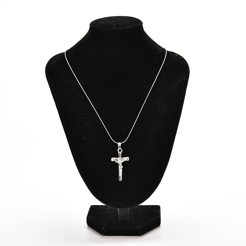 New Vintage Stainless Steel Sliver Chain Cross Pendant Necklace Women Girl Kids,Mini Charm Pendant Jewelry Crucifix Christian