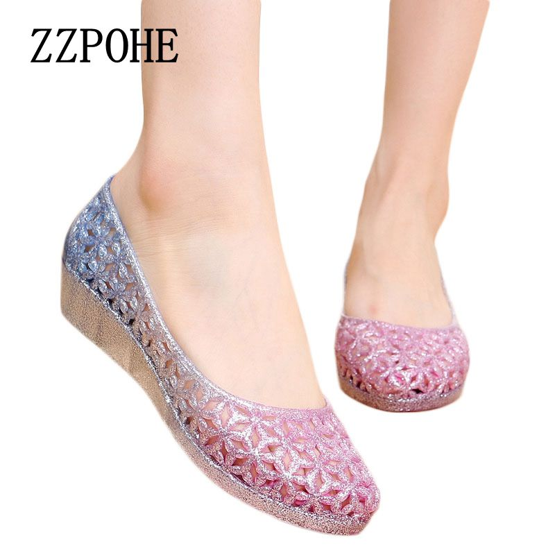ZZPOHE 2017 summer new women casual fashion crystal sandals Woman Plus Size sandals Non-slip Comfortable breathable Female shoes capputine new summer sandals woman shoes 2017 fashion african casual sandals for ladies free shipping size 37 43 abs1115