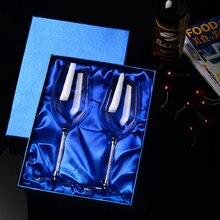 350 ML/470 ML del Vidrio de Vino Cristalino de Lujo Del Banquete de Boda Tostado Copas de Alta Calidad Creativa Cristal Piedras Diseño H1002