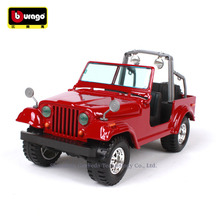 цена на Bburago 1:24 Jeep WRANGLER simulation alloy car model crafts decoration collection toy tools gift