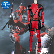 2016 New Mens Deadpool Cosplay Costume Updated Version Deluxe Outfit Halloween for Adult